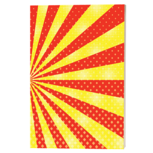 Red and yellow burst Drawing Book